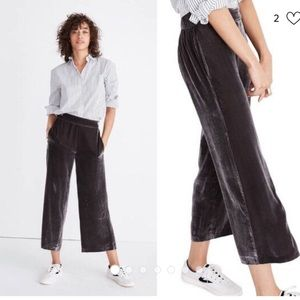 Madewell Velvet pull-on pants. NWT size small